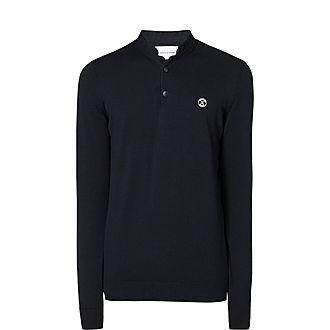 Officer Collar Wool-Blend Sweater
