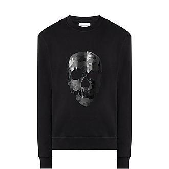 Mesh Skull Sweatshirt