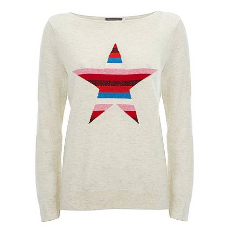 Stripe Star Front Sweater, ${color}