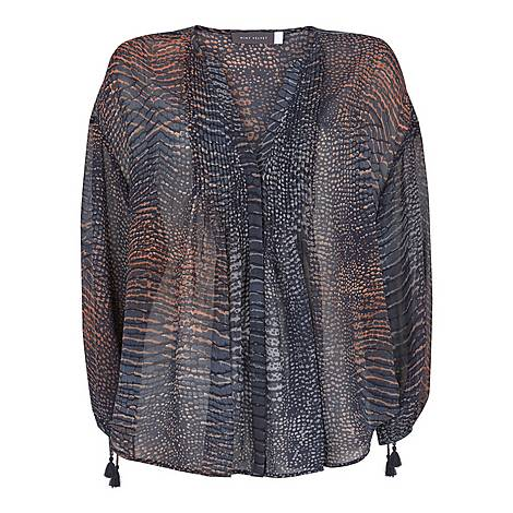 Marlee Snake Print Blouse, ${color}