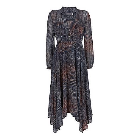 Marlee Snake Trapeze Dress, ${color}
