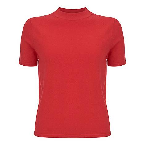 High Neck Fitted T-Shirt, ${color}