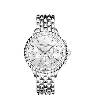 Rebel At Heart Studded Chronograph Watch