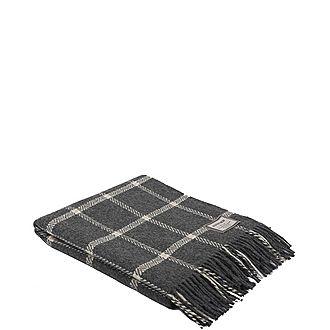 Windowpane Wool/Cash Throw