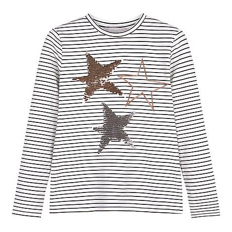 Striped Sequin Star T-Shirt, ${color}