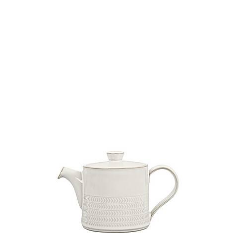 Natural Canvas Textured Teapot, ${color}