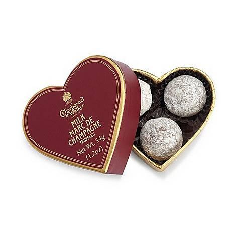 Red Mini Heart With Milk Marc De Champagne Truffles 34g, ${color}