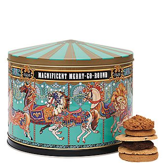 Merry Go Round Musical Biscuit Tin