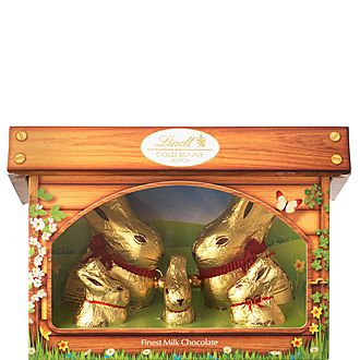 Golden Easter Bunny and Family Hutch