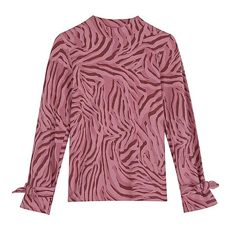 Zebra Print Jersey Top, ${color}