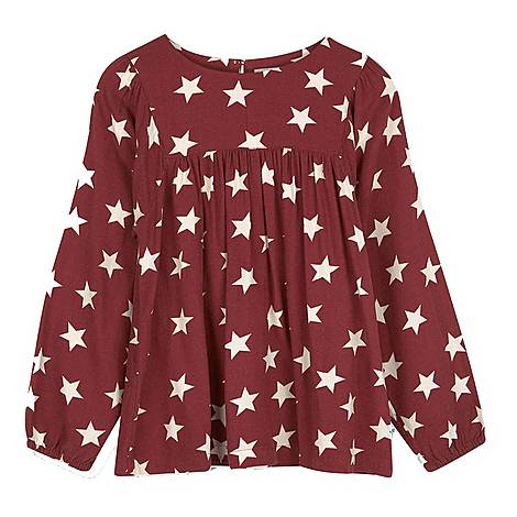 Bessie Star Print Blouse, ${color}