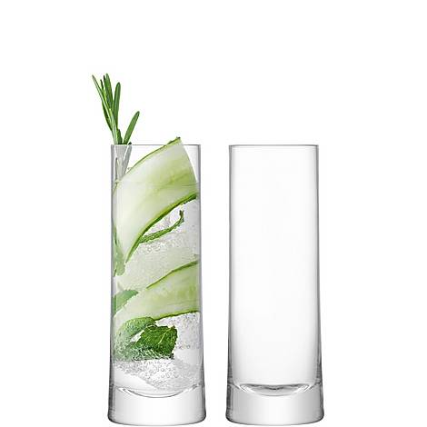 Set of Two Gin Highball Glasses 380ml, ${color}