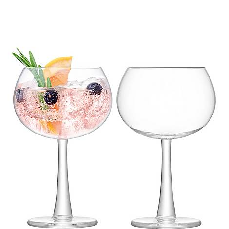 Set of 2 Gin Balloon Glasses 420ml, ${color}
