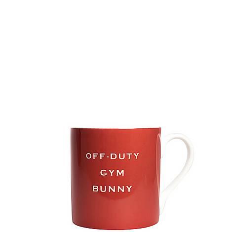 Off Duty Gym Bunny Mug, ${color}
