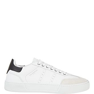 Suede and Leather Tennis Trainers