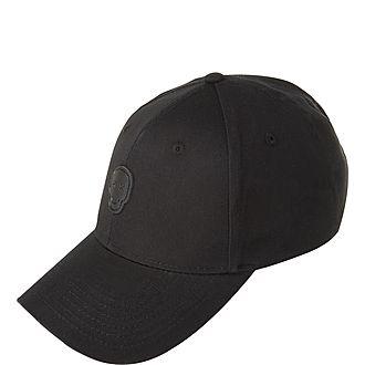 'Happy Skull' Patch Cotton Baseball Cap