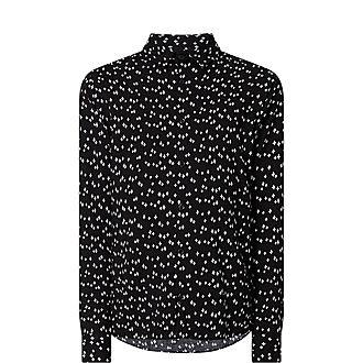 Star Print Formal Shirt