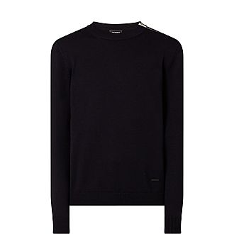 Crew Neck Zip Sweater