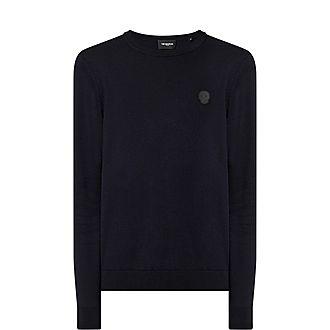 Skull Badge Knitted Sweater