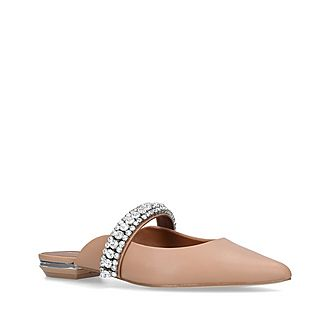 Princely Embellished Leather Mules