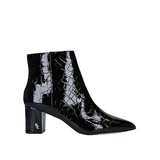 Burlington Croc-Effect Ankle Boots