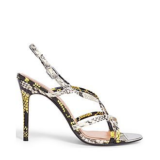 Theanaa Snakeskin-Effect Strappy Sandals