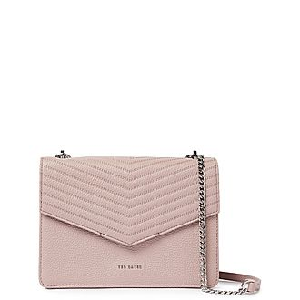 Beckeey Quilted Envelope Crossbody Bag