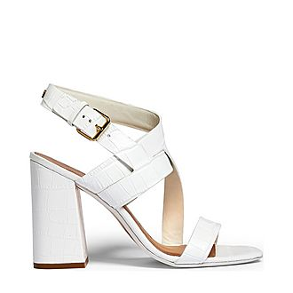 Kaseraa Croc-Effect Block Heel Sandals