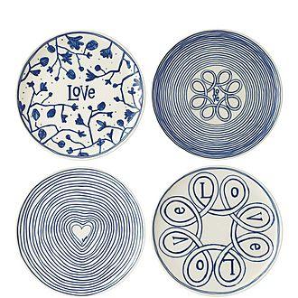 Set of 4 ED Love Plates 21cm