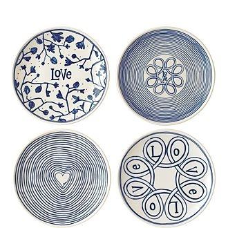 Set of 4 ED Love Plates 16cm