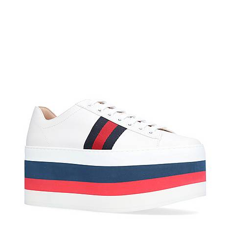Peggy Leather Platform Trainers, ${color}
