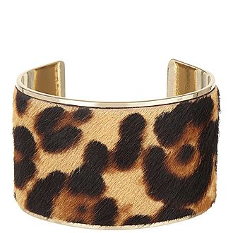 Pony Leopard Leather Bracelet