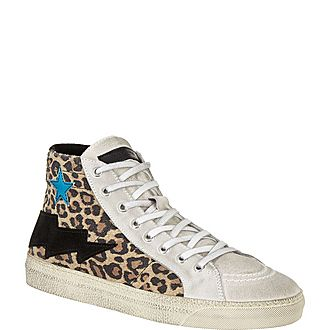 Leopard Hi-Top Trainers