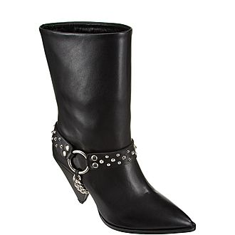 Removable Chain Ankle Boots