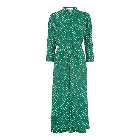 Abstract Spot Selma Tie Dress, ${color}