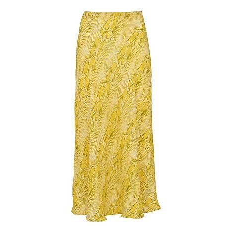 Python Print Bias Cut Skirt, ${color}