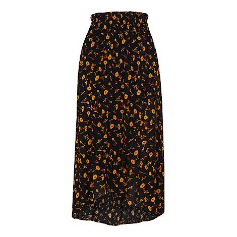 Aster Floral Wrap Skirt, ${color}