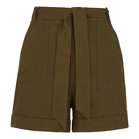 Tie Waist Shorts, ${color}