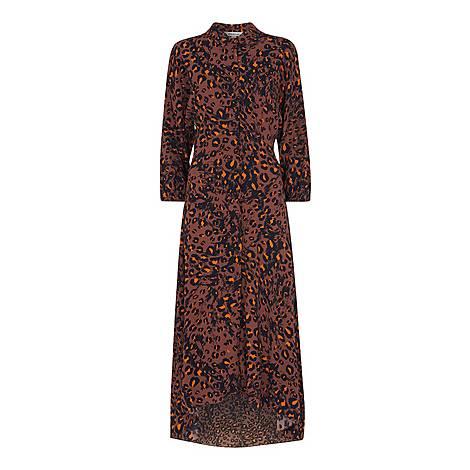 Amara Brushed Leopard Dress, ${color}