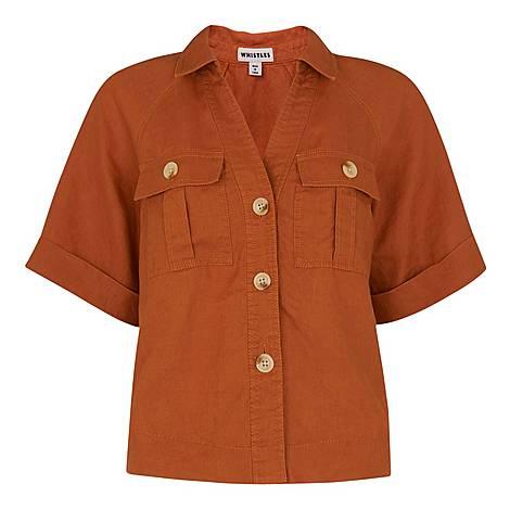 Eldora Linen Pocket Shirt, ${color}
