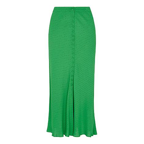 Micro Spot Button Skirt, ${color}