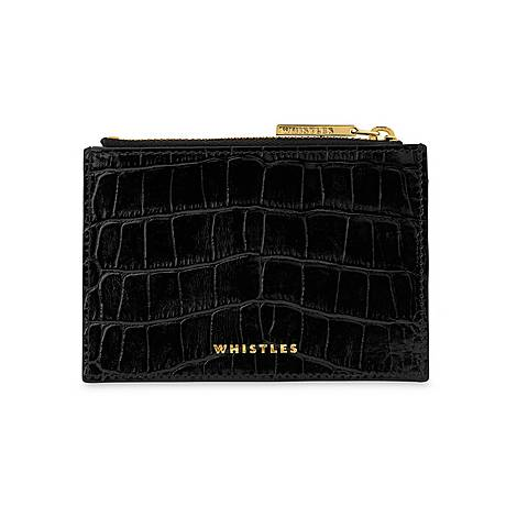 High Shine Croc-Effect Purse, ${color}