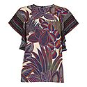 Palm Print Shell Top, ${color}