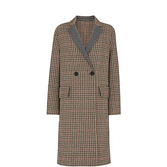 Check Double Faced Wool Coat