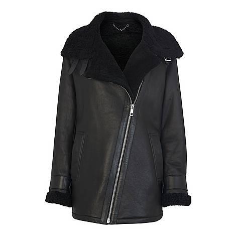 Shearling Brianna Biker Jacket, ${color}