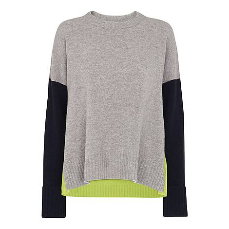Freida Colour Block Merino Sweater, ${color}