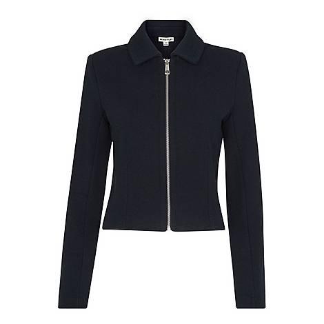 Zip Front Jersey Jacket, ${color}
