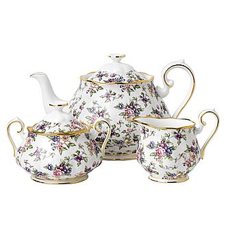 100 Years English Chintz 1940 Teapot Set