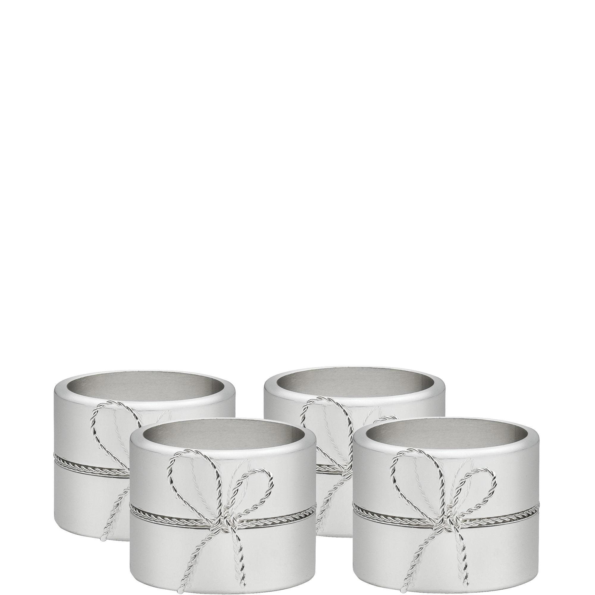 Wedgwood Love Knots Napkin Ring Set Of Four