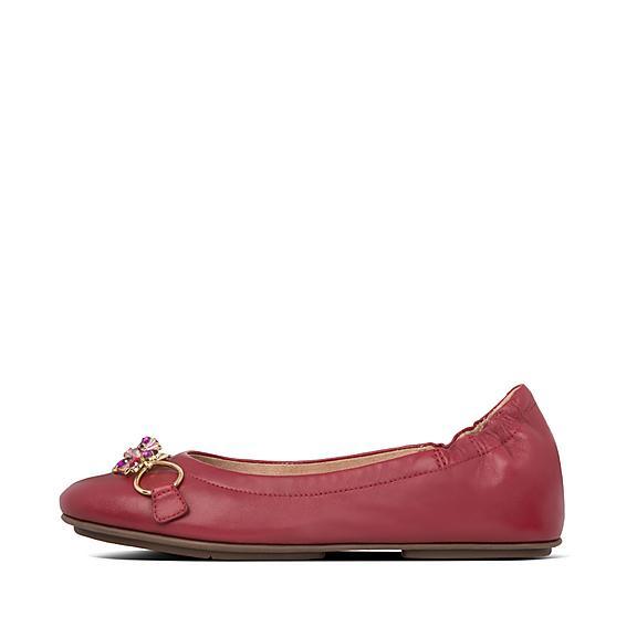 핏플랍 알레그로 발렛슈즈 FitFlop Womens Allegro Leather Ballerinas,Dark Red